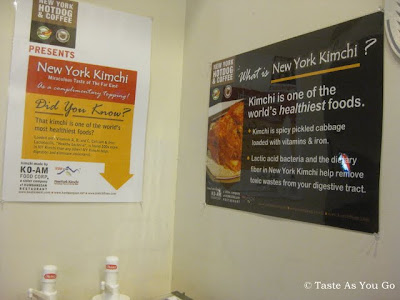 ign Above Kimchi Bar at New York Hotdog & Coffee in New York, NY - Photo by Taste As You Go