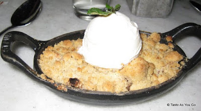 Apple Crisp with Tahitian Vanilla Ice Cream | Taste As You Go