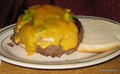 Burger Mexicana at Jackson Hole Restaurant in New York, NY - Photo by Taste As You Go