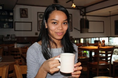 Michelle Drinks Coffee at Jackson Hole in New York - Photo by Julie