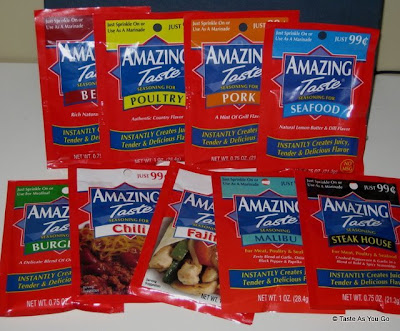 Amazing Taste Seasoning Packets - Photo by Taste As You Go