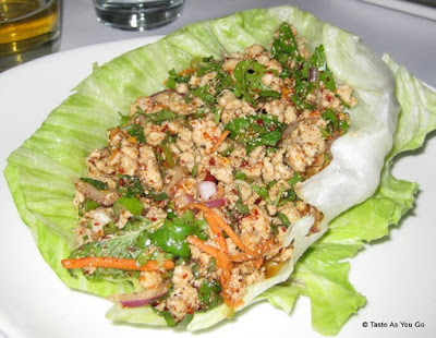 Larb Gai at Rhong Tiam in New York, NY - Photo by Taste As You Go
