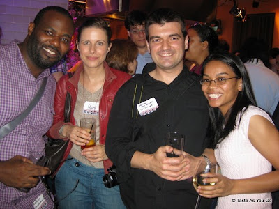Mike, Claire, Stephane, Michelle at the Food2 Launch Party at the Food Network Kitchen | Taste As You Go