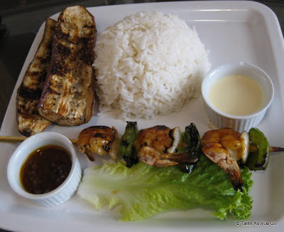 Shrimp-BBQ-White-Rice-Grilled-Eggplant-Ihawan2-Long-Island-City-NY-tasteasyougo.com