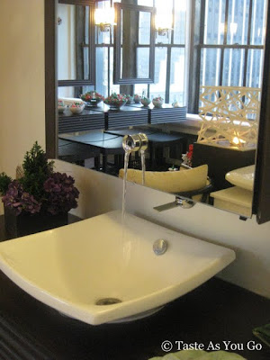 Sink in the Bathroom at Robert Verdi's Luxe Laboratory in New York, NY | Taste As You Go