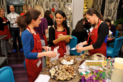 Creating Cookie Gift Bags at the Hershey's Baking Party and Cookie Exchange at Robert Verdi's Luxe Laboratory in New York, NY | Photo Courtesy of JSH&A Public Relations