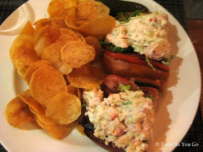 Lobster Roll at Blue Fin in New York, NY - Photo by Taste As You Go
