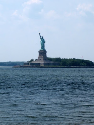 View of the Statue of Liberty from the Governors Island Ferry - Photo by Taste As You Go