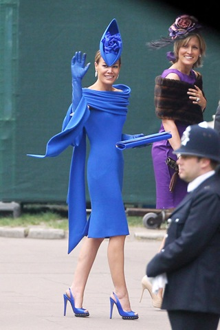Tara Palmer Tomkinson Arrivals Royal Wedding