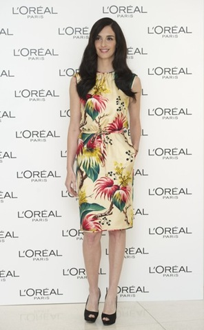 Paz Vega poses for the photographers as new Spanish ambassador of L'Oreal