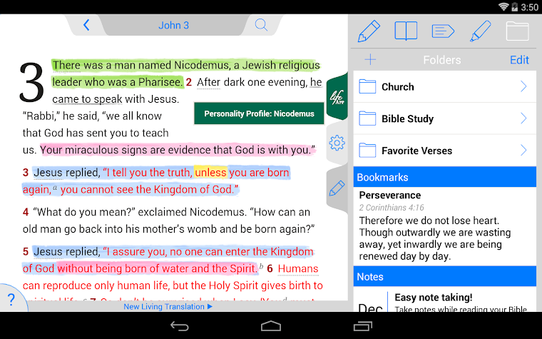 Life Application Study Bible Screenshot