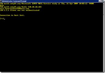 Exchange Server and Active Directory Blog: 530 5 7 1 Client