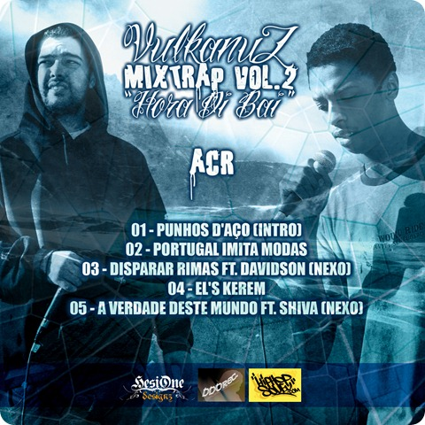 Vulkanuz - Mixtrap Vol.2 Capa Trás