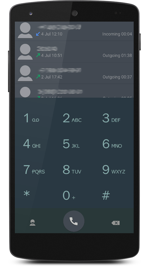 ExDialer Style Black Theme- screenshot