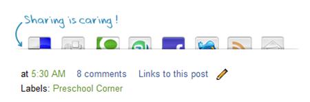 Sharing is caring social bookmark