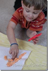 alphabet playdough mat