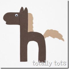 h is for horse letter craft