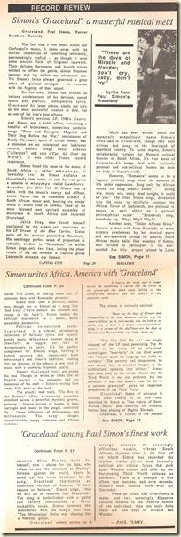 review paul simon graceland 1986