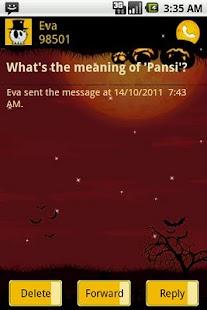 Easy SMS Halloween theme screenshot