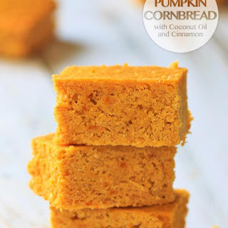 Pumpkin Cornbread with Coconut Oil and Cinnamon
