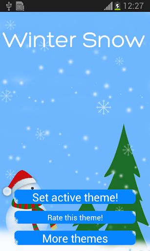 鍵盤聖誕雪主題