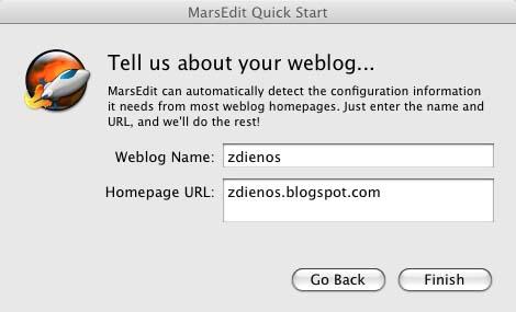 Blogging Offline dengan MarsEdit di Leopard