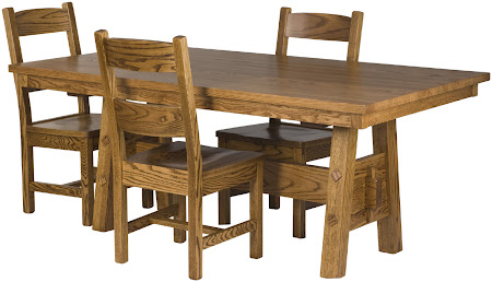 Geneva Table in Rustic Oak, Geneva Chairs