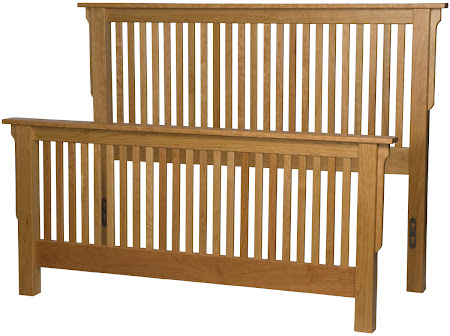 Mission Bed Frame in Rustic Oak
