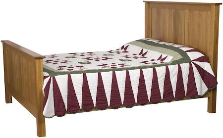 Shaker Bed in Rustic Oak