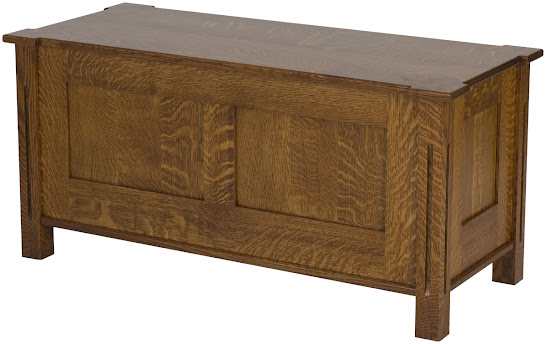 "36"" wide x 18"" high x 16"" deep Sacramento Chest in Mahogany Quarter Sawn Oak"