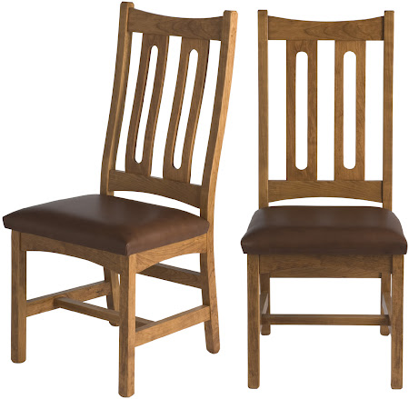 Runic Dining Chair in Rustic Oak, Bomber Brown Leather Seats