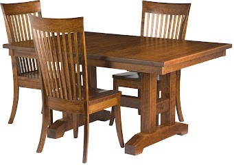 Trestle Dining Set