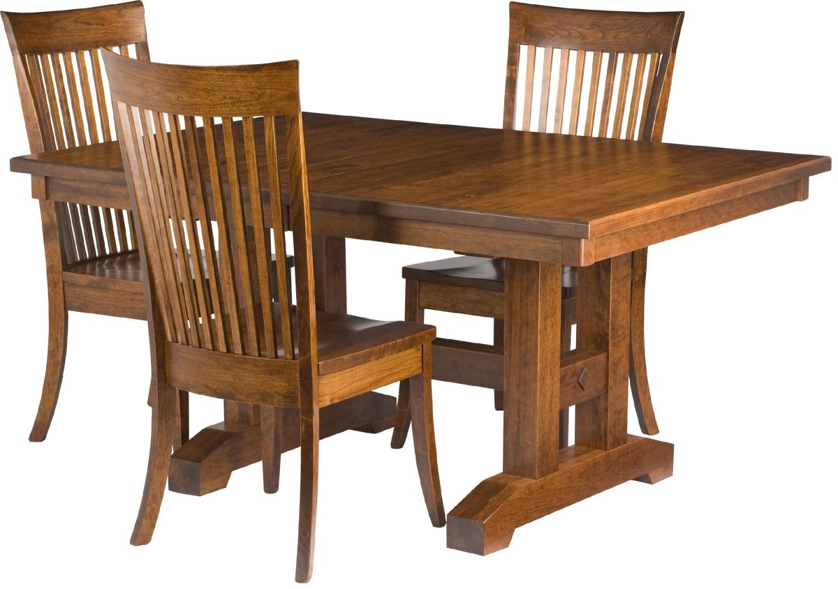 trestle dining room table erik organic. Black Bedroom Furniture Sets. Home Design Ideas