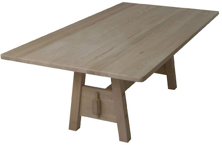Geneva Conference Table in Unfinished Oak