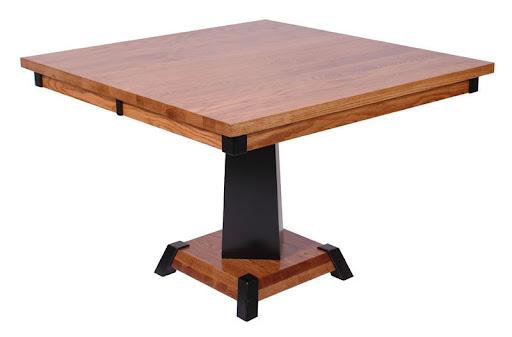"36"" x 36"" Turin Table in Midnight and Medium Oak"