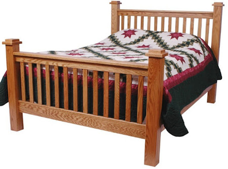 Prairie Bed Frame, in Medium Oak