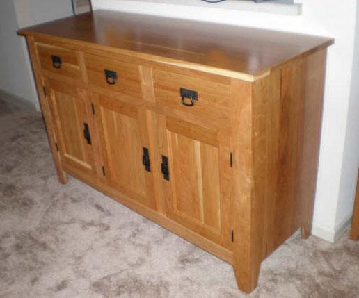 Beau Cottonwood Kitchen Buffet, Cherry Hardwood, Natural Finish ...