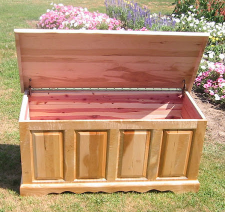 "42"" wide Hope Chest in Custom Birds Eye Maple"