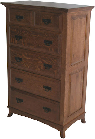 Glasgow Vertical Dresser in Mahogany Quarter Sawn Oak