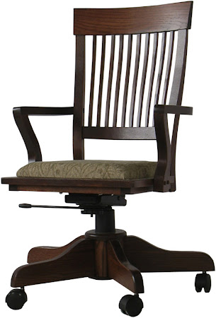 Harvest Swivel Office Chair in Lexington Oak
