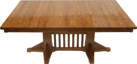 """70"""" x 42"""" Woodland Table, Oak Hardwood, Medium Finish"""