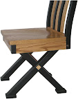 Railroad Mission Dining Chair, Oak Hardwood, Medium and Midnight Finish