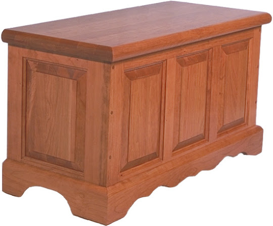 Hope Chest, Cherry Hardwood, Red Finish