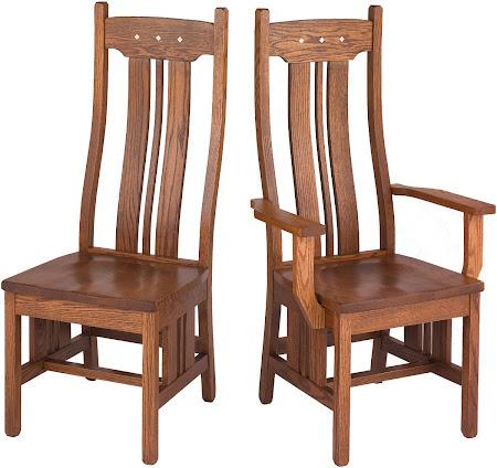 Colonial Chair in Rustic Oak