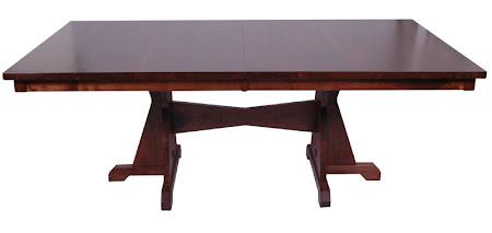 """70"""" x 46"""" Huntington Dining Table, Walnut Hardwood, Winter Finish"""