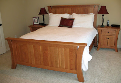 Solid Cherry Bed Frame