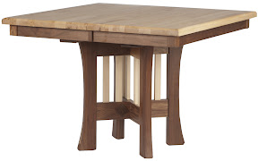 42 x 42 Craftsman Kitchen Table in Hard Maple and Walnut