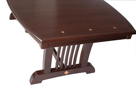 "90"" x 42"" Western Dining Table in Mocha Walnut"