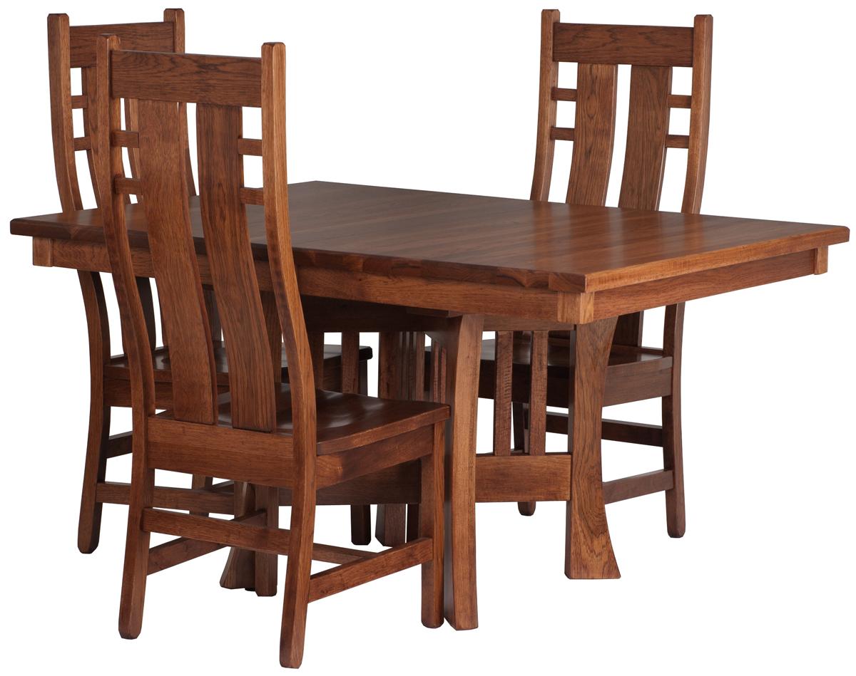 Craftsman Table and Seneca Chairs in Autumn Oak ...  sc 1 st  Erik Organic & Craftsman Dining Table | Erik Organic