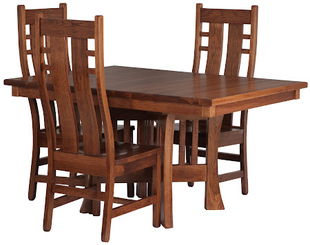 Craftsman Table and Seneca Chairs in Autumn Oak